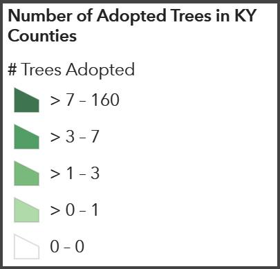Urban Forest Initiative Adopt a Tree Map Legend