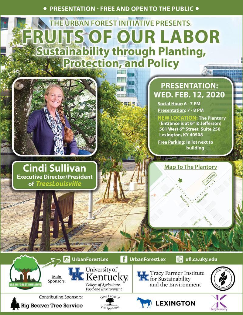 Urban Forest Initiative Seminar Cindi Sullivan Trees Louisville (Feb. 12, 2020)