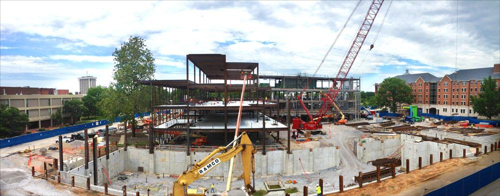 Construction of Academic Science Building; University of Kentucky Campus, June 2015 (N. Williamson)