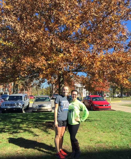 The favorite Pin Oak of Tessa Hall and Rachel Hinton in fall 2015