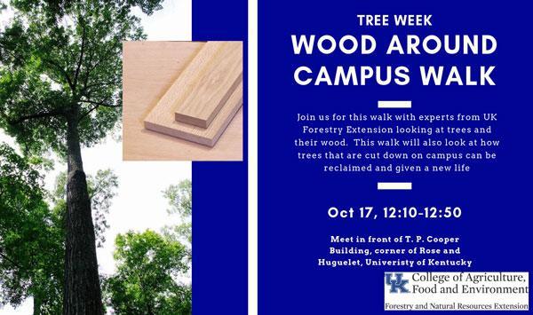 Urban Forest Initiative Tree Week 2019 Wood Around Campus