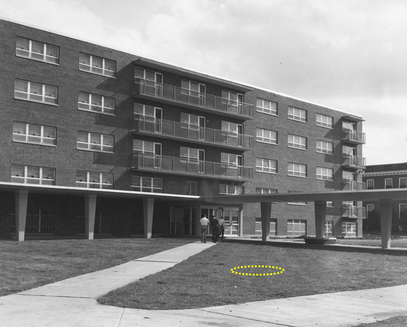 Donovan Hall in 1955