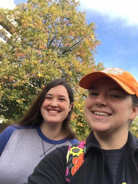 The favorite Redmond linden of Emily and Courtney in October 2016