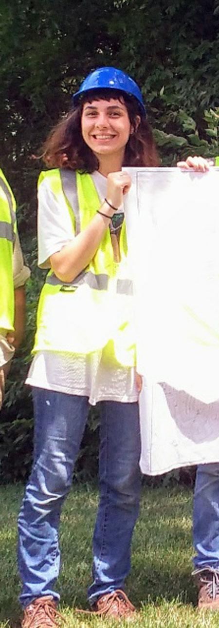 Urban Forest Initiative intern Gabrielle Petersen