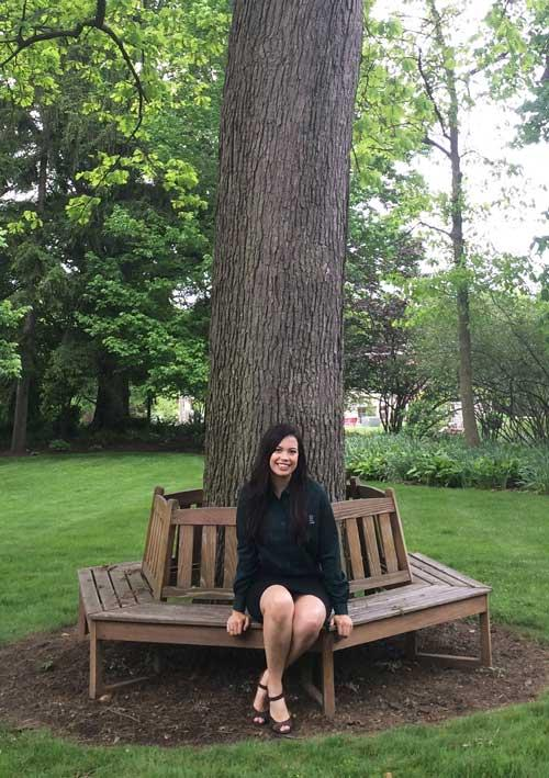 Rachel and white oak at Maxwell Place