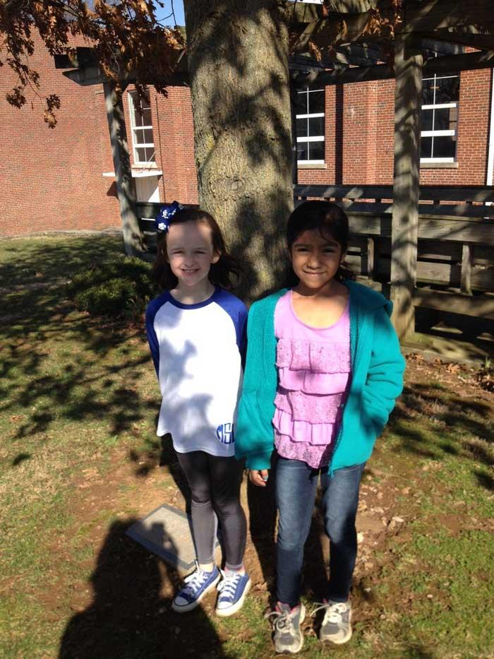 Perla and Macie favorite red oak April 2016