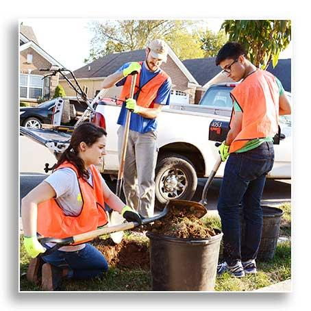 UFI and BYSC working together to plant street trees on Lawson Lane