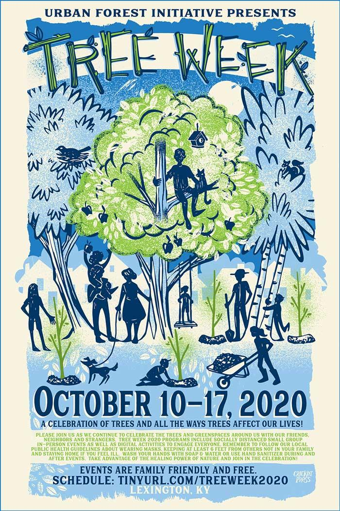 Urban Forest Initiative Tree Week 2020 poster
