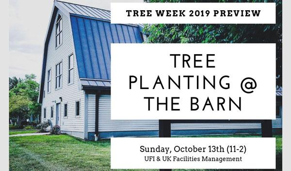 Urban Forest Initiative Tree Week 2019 Planting @ the Barn