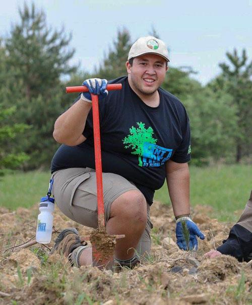 Urban Forest Initiative intern Bryan Kist