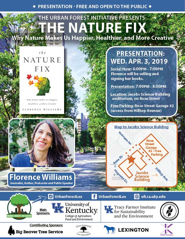 Urban Forest Initiative Florence Williams The Nature Fix - April 3