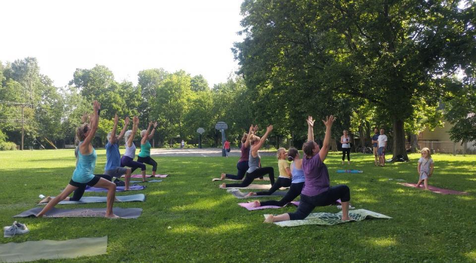 urban forest initiative tree week 2021 tree inspired yoga