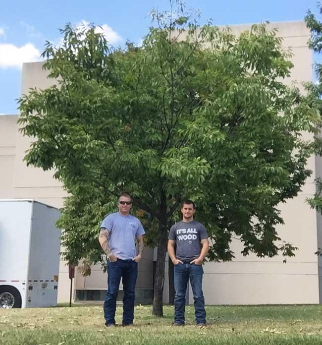 The favorite white ash of Caleb and Travis on University of Kentucky Campus in September 2016