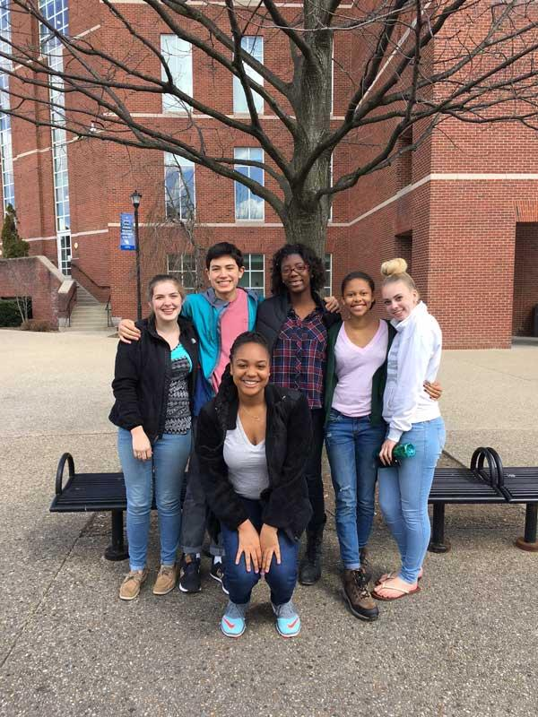 Nzeba Claire Ethan Keke Cameron Isabelle and red oak April 2016