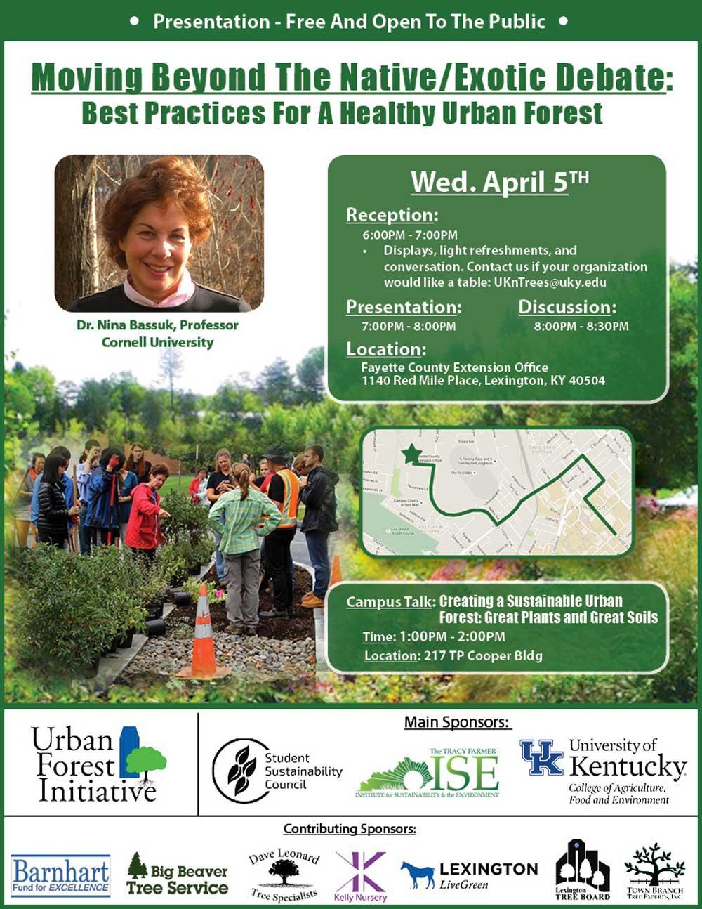 Dr. Nina Bassuk urban forestry seminar
