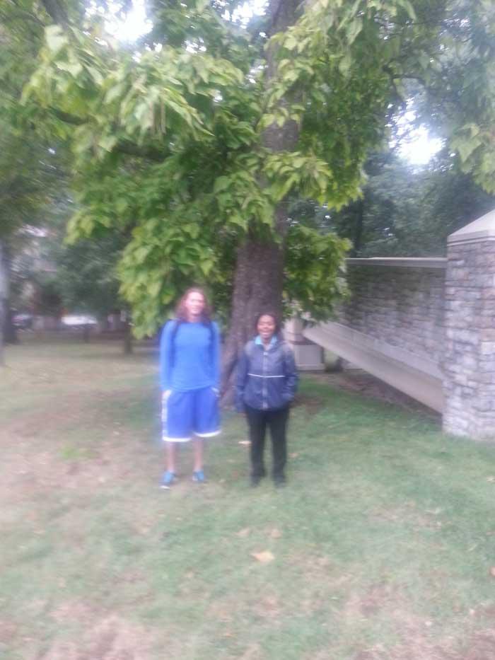 The favorite Northern Catalpa of Joyia Williams and Joseph Maciag in September 2015
