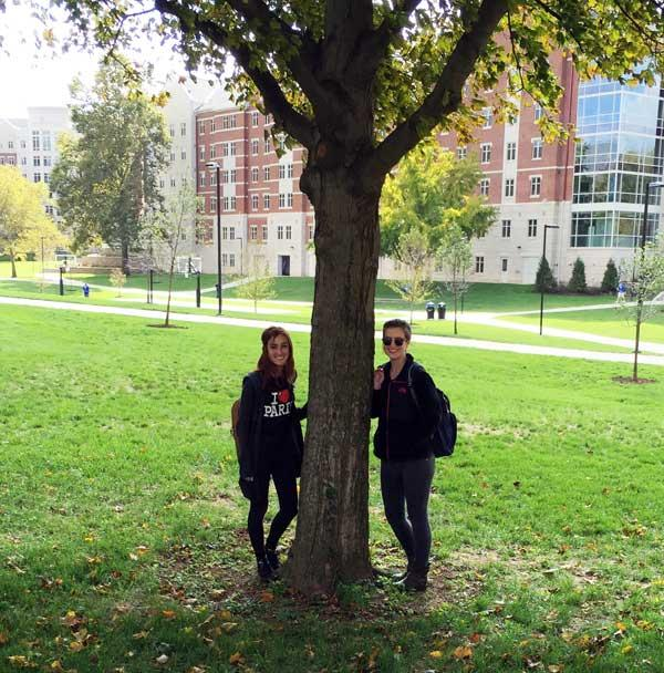 The favorite sugar maple of Morgan Meehan Maddie Lydick in October 2015